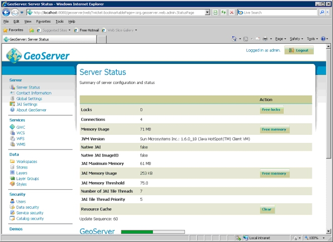 GeoServer Administrative Interface